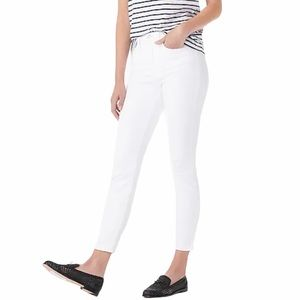 """NEW J Crew 9"""" High Rise White Toothpick Jeans"""